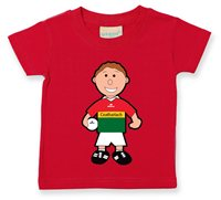The GAA Store Carlow Baby Mascot Tee - Boys - Football - Red
