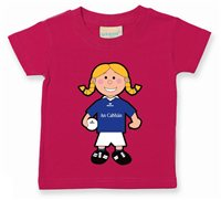 The GAA Store Cavan Baby Mascot Tee - Girls - Football - Fuchsia