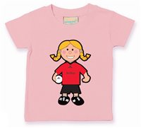 The GAA Store Down Baby Mascot Tee - Girls - Football - Pale Pink