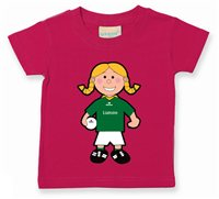 The GAA Store Leitrim Baby Mascot Tee - Girls - Football - Fuchsia