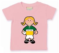 The GAA Store Offaly Baby Mascot Tee - Girls - Football - Pale Pink
