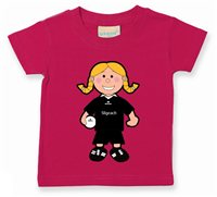 The GAA Store Sligo Baby Mascot Tee - Girls - Football - Fuchsia