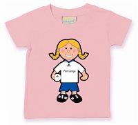 The GAA Store Waterford Baby Mascot Tee - Girls - Football - Pale Pink