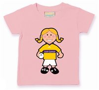 The GAA Store Wexford Baby Mascot Tee - Girls - Football - Pale Pink
