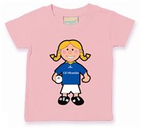 The GAA Store Wicklow Baby Mascot Tee - Girls - Football - Pale Pink