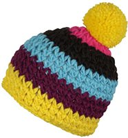 Red Hot Suez Woolly Hat - Youth - Yellow/Purple/Blue/Black