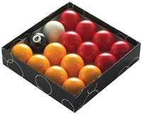 Powerglide Pool Balls Red/Yellow 2 Inch