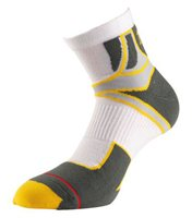 1000 Mile Cross Sport Sock - Mens - White/Yellow