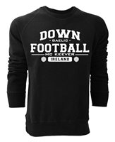 Mc Keever Down Football GAA Supporters Sweat Top - Adult - Black