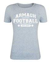 Mc Keever Armagh Football GAA Supporters Tee - Womens - Heather Grey