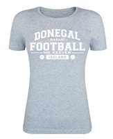 Mc Keever Donegal Football GAA Supporters Tee - Womens - Heather Grey