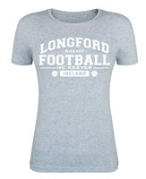 Mc Keever Longford Football GAA Supporters Tee - Womens - Heather Grey