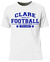Mc Keever Clare Football GAA Supporters Tee - Mens - White