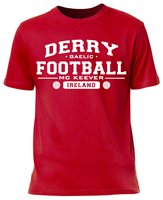 Mc Keever Derry Football GAA Supporters Tee - Mens - Red