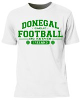Mc Keever Donegal Football GAA Supporters Tee - Mens - White