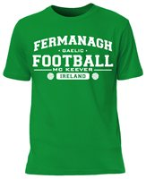 Mc Keever Fermanagh Football GAA Supporters Tee - Mens - Green