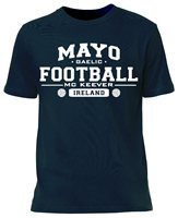 Mc Keever Mayo Football GAA Supporters Tee - Mens - Navy