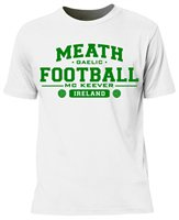 Mc Keever Meath Football GAA Supporters Tee - Mens - White