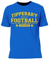 Mc Keever Tipperary Football GAA Supporters Tee - Mens - Blue