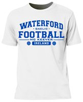 Mc Keever Waterford Football GAA Supporters Tee - Mens - White