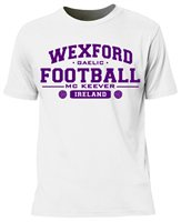 Mc Keever Wexford Football GAA Supporters Tee - Mens - White
