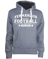 Mc Keever Fermanagh Football GAA Supporters Hoodie - Womens - Grey