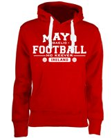 Mc Keever Mayo Football GAA Supporters Hoodie - Womens - Red