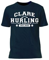 Mc Keever Clare Hurling GAA Supporters Tee - Mens - Navy