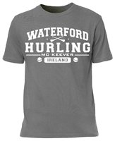 Mc Keever Waterford Hurling GAA Supporters Tee - Mens - Grey