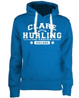 Mc Keever Clare Hurling GAA Supporters Hoodie - Womens - Blue