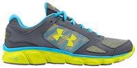 Under Armour Micro G Assert V Running Shoes - Womens - Graphite/High Vis Yellow