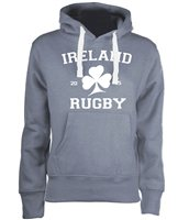 Mc Keever Ireland Rugby Supporters Hoodie - Womens - Grey