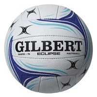 Gilbert Match Eclipse Netball - White/Blue - Size 5