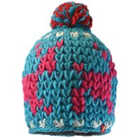 Red Hot Zinal Woolly Hat - Adult - Turquoise/White/Pink/Red