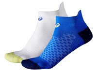 Asics Socks - 2 Pack - Womens - White/Blue