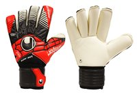Uhlsport Eliminator Supersoft RF GoalKeeper Gloves - Adult - Black/Red/White