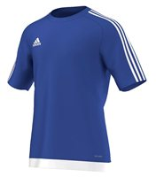 adidas Estro 15 Short Sleeve Jersey - Adult - Royal/White