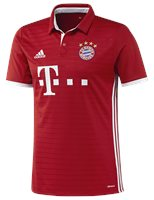 adidas FC Bayern Munich 2016/17 Short Sleeve Home Jersey - Youth - True Red/White