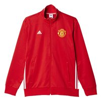 adidas Manchester United FC Official 2016/17 Track Jacket - Adult - Red/White