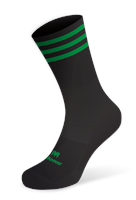Mc Keever Pro Mid 3 Bar Socks - Youth - Black/Green
