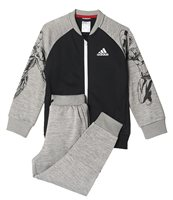 adidas Disney Marvel Avengers Full Zip Hoodie Set - Boys - Black/Medium Grey Heather/White