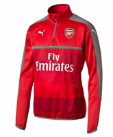 Puma Arsenal FC 2016/17 1/4 Zip Training Top - Adult - High Risk Red