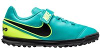 Nike Tiempo Rio III Turf Football Shoes - Youth - Clear Jade/Black Volt
