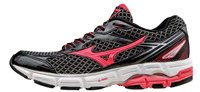 Mizuno Wave Connect 3 Running Shoes - Womens - Black/Diva Pink/Silver