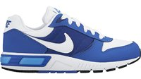 Nike Nightgazer GS Running Shoes - Boys - White/Game Royal/Deep Royal Blue