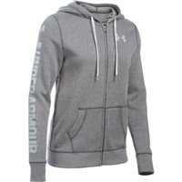 Under Armour Favourite Fleece Full Zip Hoodie  - Womens - Carbon Heather/White