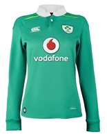 Canterbury Ireland Rugby 2016/17 Home Classic LS Jersey - Womens - Bosphorus