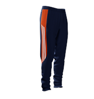 adidas Mi Mi Team 14 Plain Training Skinny Pants - Adult - New Navy/Collegiate Orange/White
