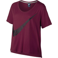 Nike Sportswear Top - Womens - Noble Red/Black