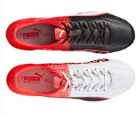 Puma EvoSpeed 1.5 Leather FG Boots - Adult - Black/White/Red